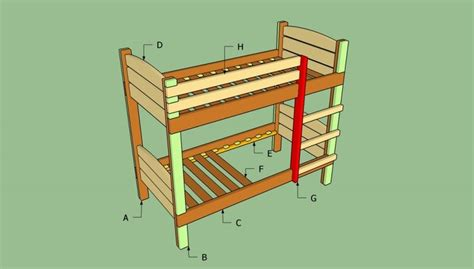 Build Loft Bed Frame Build A Bunk Bed Bed Frame Plans Beds Furniture And Diy And Crafts