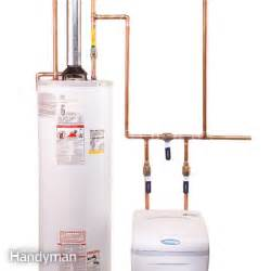 how to plumb a water softener the family handyman