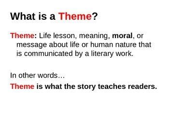 theme powerpoint quiz identifying theme powerpoint lesson with quiz by the