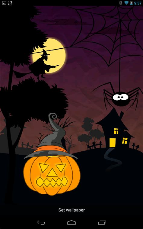 theme line halloween android halloween paper live wallpaper android themes android