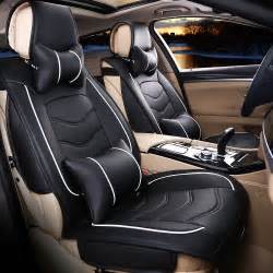 Car Seat Cover Black And Beige Free Shipping Luxury Leather Car Seat Cover Universal