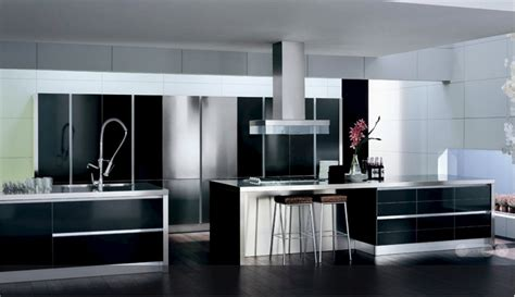 modern black and white kitchens the and look of black and white kitchen