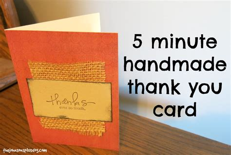 Handmade I You Cards - 5 minute handmade thank you card manzanita