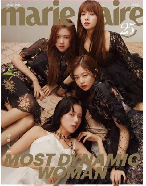 blackpink reality show blackpink ocupa la portada de la revista marie claire korea