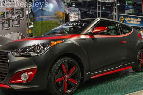 hyundai veloster turbo blacked out matte black hyundai sema2013 jpg 1024 215 682 cars to