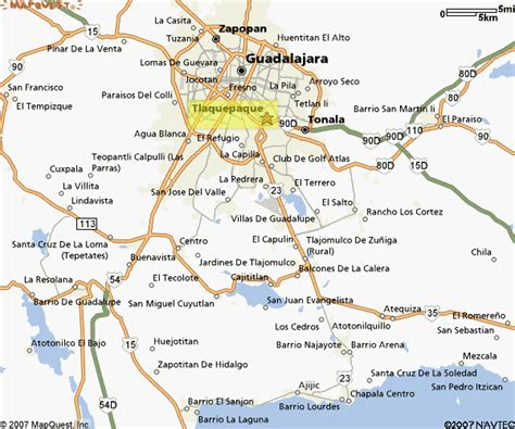 map of guadalajara location and maps
