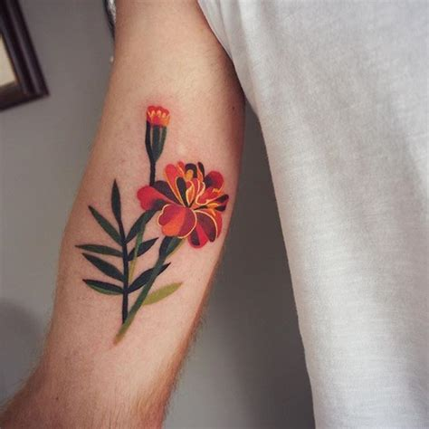 calendula tattoo designs best 25 october birth flowers ideas on
