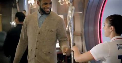 alex morgan house video alex morgan welcomes lebron james in latest mcdonald s commercial
