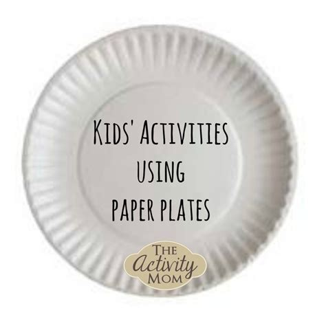 using paper plates the activity activities using recycled