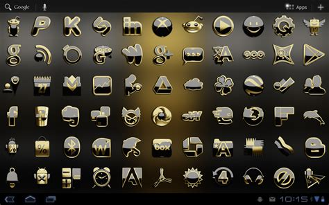 gold icon themes next launcher theme black gold android apps on google play