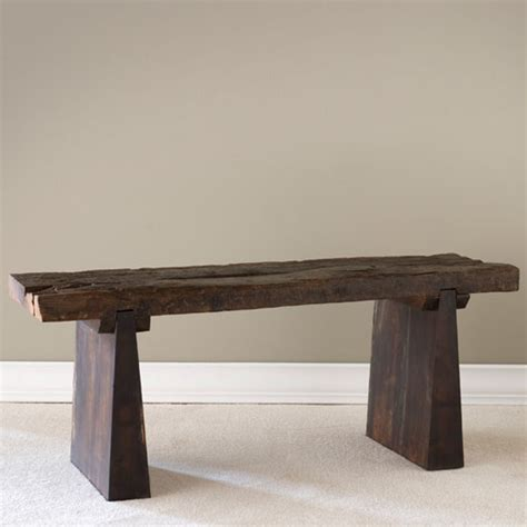 the recycled railroad tie bench gives new life to a