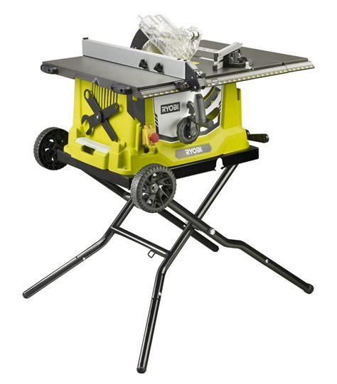 ryobi lance une nouvelle scie sur table filaire 1800 w rts