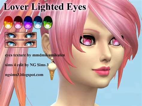 sims 4 anime hair cc lover lighted eyes ts4 cc by ng9 on deviantart
