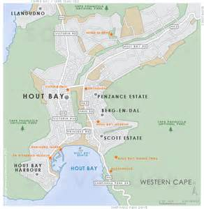 Table Mountain South Africa by Hout Bay Map