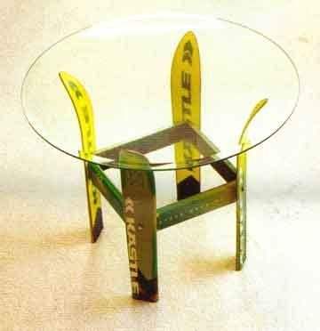 Ski Legs For Table Up Cycling Pinterest Snowboard Coffee Table