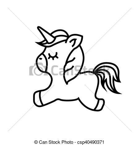 imagenes kawaii para dibujar de unicornios ilustraciones vectoriales de lindo unicornio dibujo