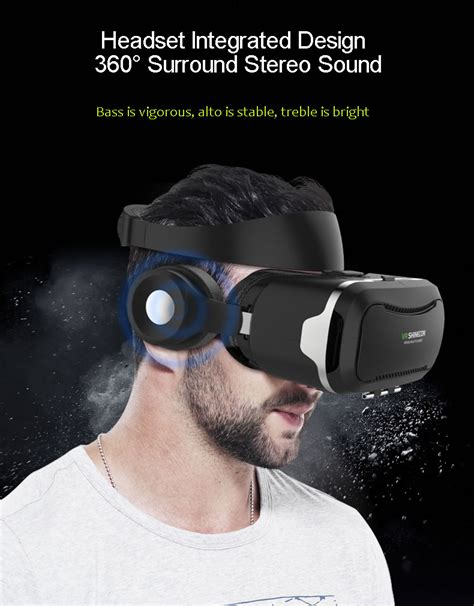Reality 3d vr shinecon 4th reality 3d glasses with