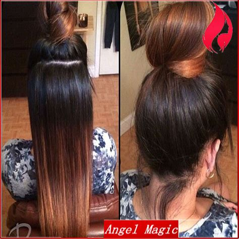 sew in ponytail with bangs brazilian virgin full lace human hair ombre wigs with