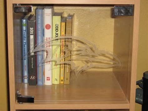 add plexiglass quot doors quot to a bookshelf plus etching i