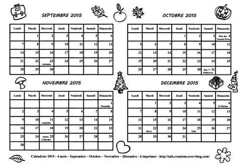 Calendrier 3 Mars 2015 Calendrier 2015 4 Mois Septembre Octobre Novembre