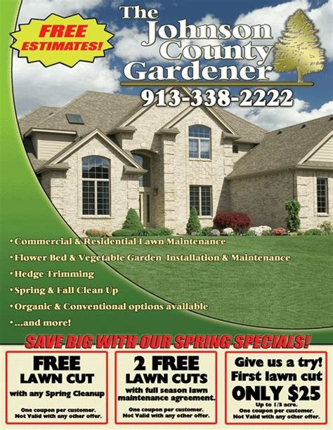 landscaping advertising ideas landscape flyer templates lawn care