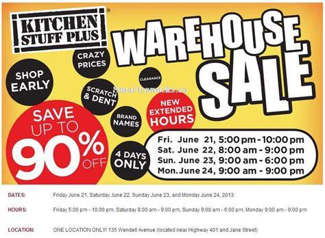 kitchen stuff plus summer warehouse sale in toronto jun 21