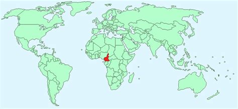 cameroon in world map cameroon facts and figures