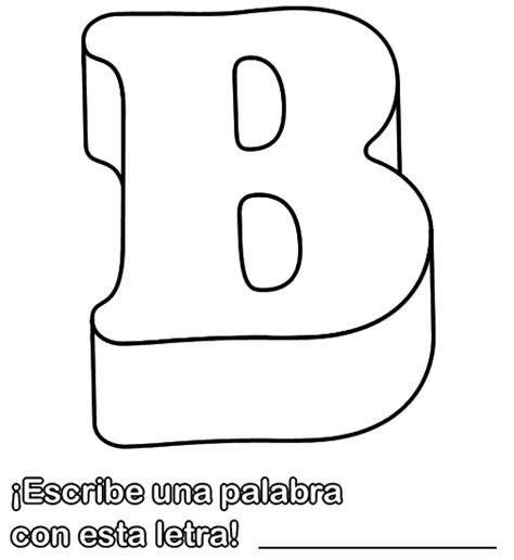 palabras e imagenes con la letra b colorear dibujo de la letra b