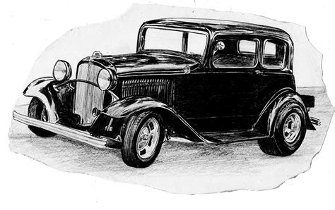 vintage cars drawings vintage car drawing by cheryl poland