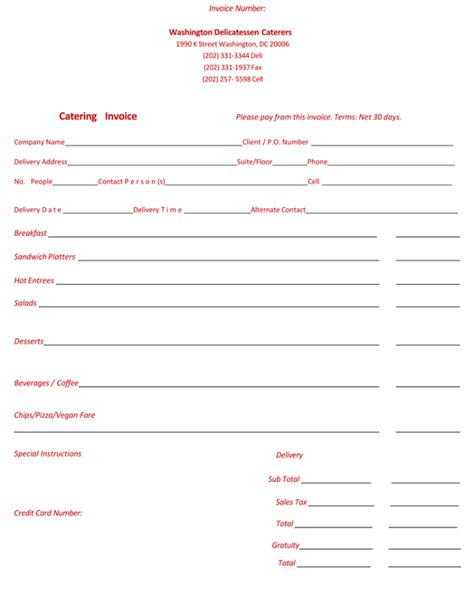 templates for catering invoices 5 best catering invoice templates for decorative business