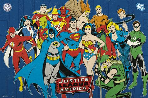 Kaos Superman Batman Retro Justice League Kaos Dc Navys the of justice league posters is upon us discovergeek search engine for merchandise