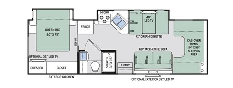chateau rv floor plans class c motorhome thor motor coach
