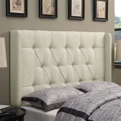beige tufted headboard pri shelter button tufted king headboard in beige ds