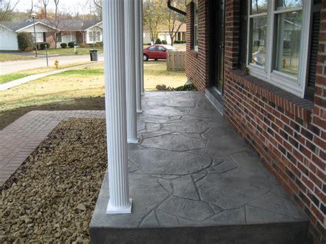 Concrete Porch Construction new sted concrete porch and posts porch st louis by benhardt construction remodeling