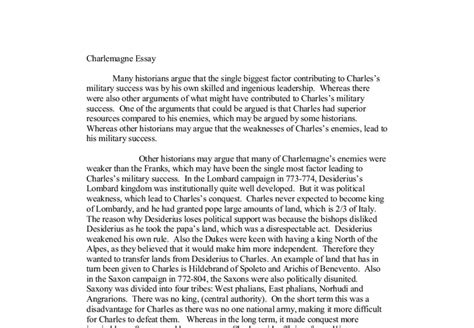 Charlemagne Essay Ideas by Charlemagne Essay A Level History Marked By Teachers