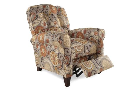 patterned recliner chair floral patterned 33 quot wall saver recliner mathis brothers