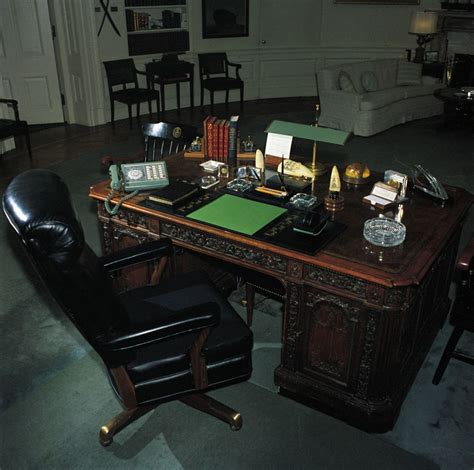 Kennedy Oval Office by Oval Office Desk John F Kennedy Presidential Library
