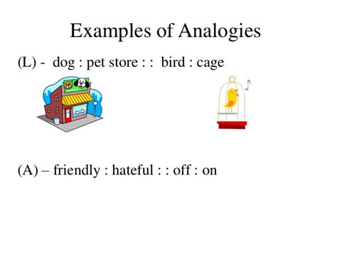 exle of analogy analogies notes