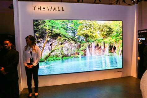 samsung wall tv samsung s the wall makes 146 inch modular tv a reality cnet