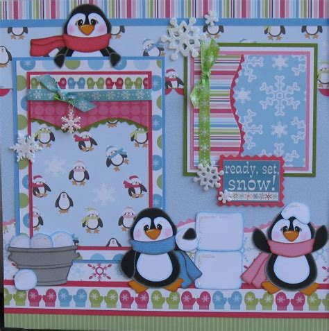 scrapbook layout craft you have to see penguins scrapbook layout by designsoncloud9