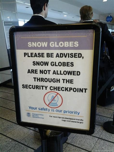 knitting needles airport security airport security sign yea no snow globes allowed
