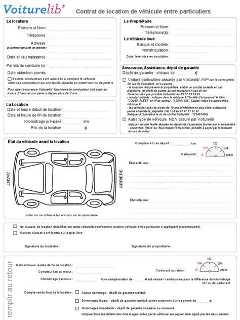 contrat de location voiture pdf id 233 e d image de voiture