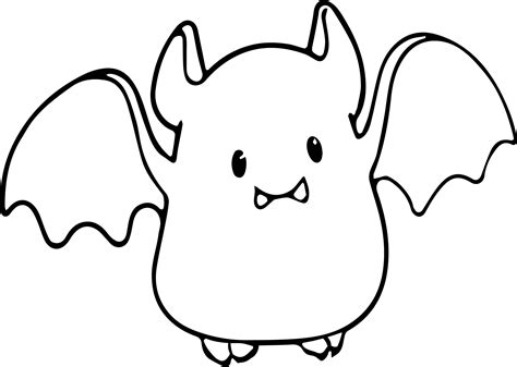 coloring pages baby bat small cute baby cartoon vire bat coloring page