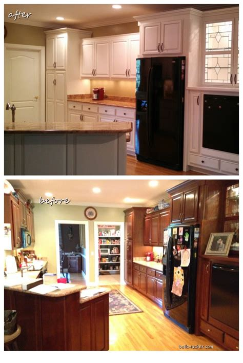 painting wood cabinets before and after painted cabinets nashville tn before and after photos