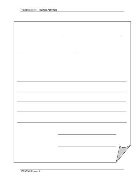 layout of a spanish letter blank letter template for kids blank template friendly