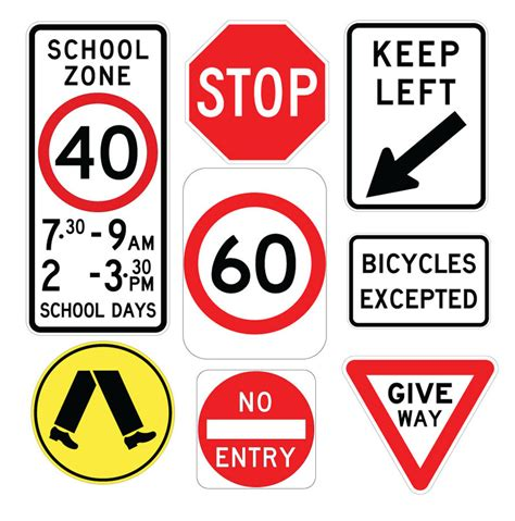 printable road signs australia road signage traffic signage road signs road signage design