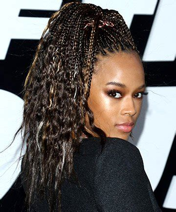 african braids in a ponytail with the saga least with that then 35 micro braids hairstyles for african american women