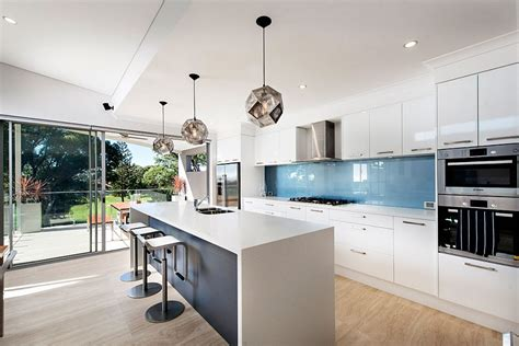 modern kitchen designs perth funky geometric pendant lights over kitchen island plus