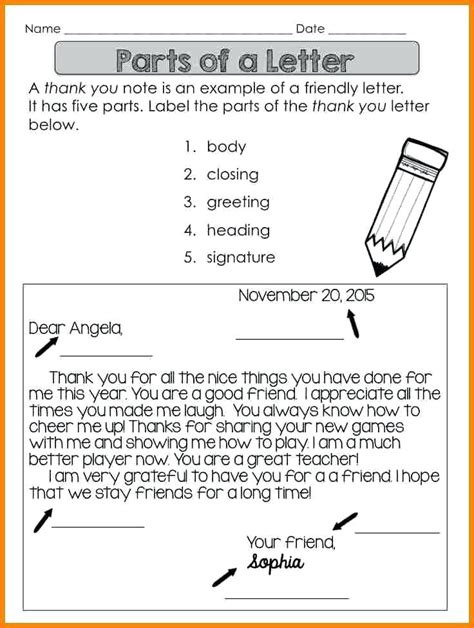 three letter parts parts of a friendly letter worksheet worksheets for all 1669