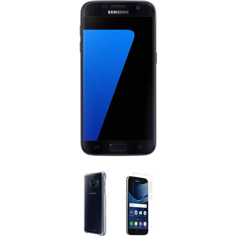 h samsung s7 samsung galaxy s7 32gb smartphone with clear black protective